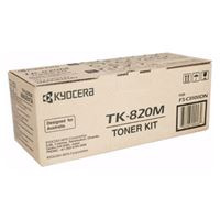 Kyocera TK-820M Magenta Toner Kit for FS-C8100DN (7,500 Yield @ 5%)