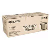 Kyocera TK-820Y Yellow Toner Kit for FS-C8100DN (7,500 Yield @ 5%)