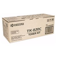 Kyocera TK-820C Cyan Toner Kit for FS-C8100DN (7,500 Yield @ 5%)