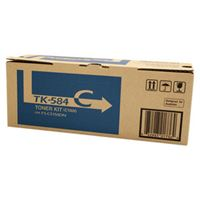 Kyocera TK-584C Cyan Toner Cartridge (2,800 Yield)
