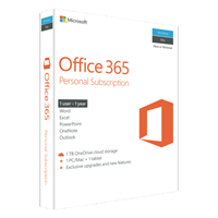 Microsoft (QQ2-00645) Office 365 Personal - 1 User, 1 Year Subscription